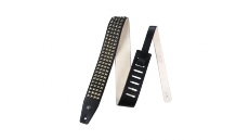 "BMF06BK 2.5"" Distressed Black Studs Strap"