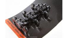 PMMH-030 MODERN BLACK MACHINE HEADS W/METAL BUTTONS
