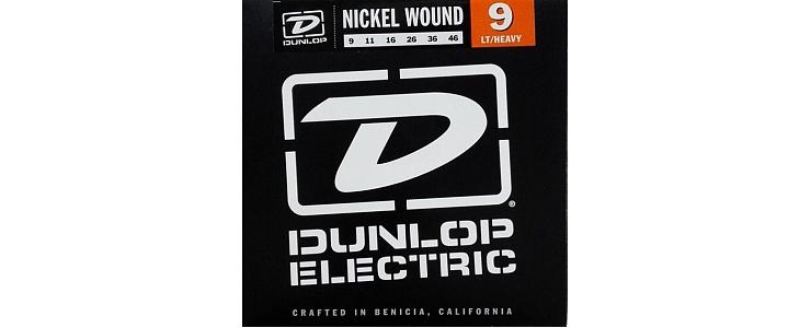 Dunlop DEN0946 Комплект струн для электрогитары, никелированные, Light/Heavy, 9-46